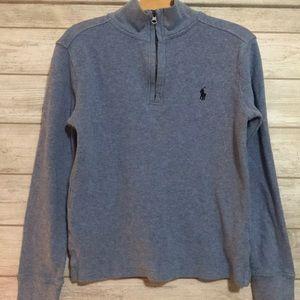 Boys Quarter Zip long sleeve shirt - size 8